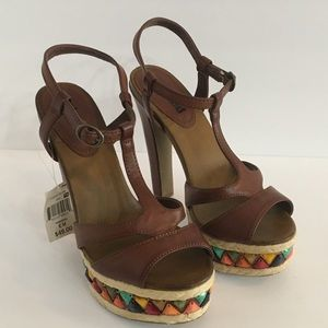 Unlisted Thick Heels with Beads NWT